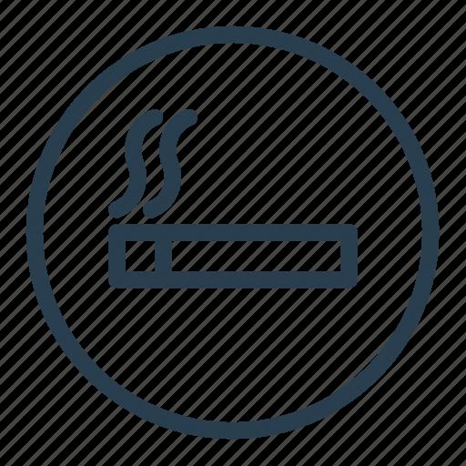 area, cigarette, sign, smoking, smoking area, smoking room icon
