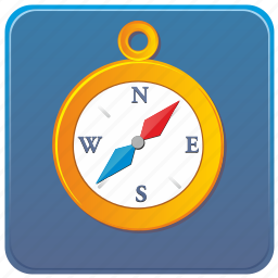app, compass, gps, location, mobile, place, smartphone icon