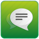 app, dialog, message, messenger, mobile, smartphone icon
