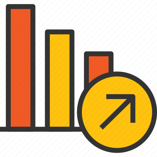 arrow, business, graph, growth, increase, profit, success icon