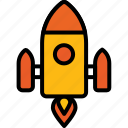 startup, fireworks, rocket, launch, spaceship, missile, astronomy