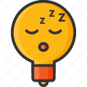 bulb, creative, health, light, sleep, sleeping, snoring icon