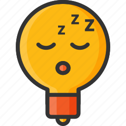 bulb, creative, health, light, sleep, sleeping, snoring icon
