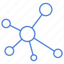 atoms, bonding, connection, network, reaction icon
