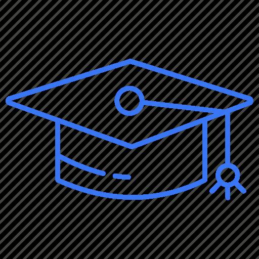 cap, convocation, degree, graduation icon
