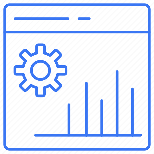 business, gear, graph, setting icon