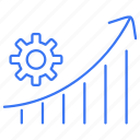 gear, graph, rising, setting icon