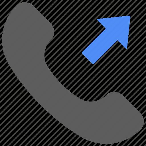 arrow, call, communication, phone, talk, telephone icon