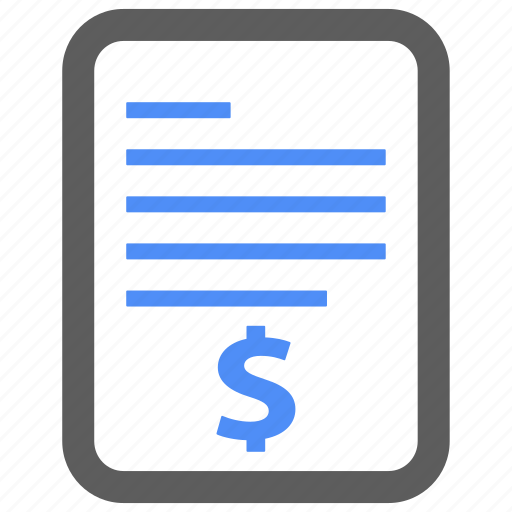 bill, billing, check, invoice, page, payment icon