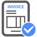bill, check, credit, ecommerce, invoice, payment, receipt icon