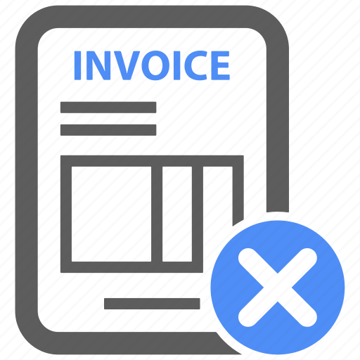 bill, credit, delete, invoice, payment, receipt, remove icon