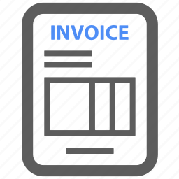 bill, document, documents, invoice, payment, report icon