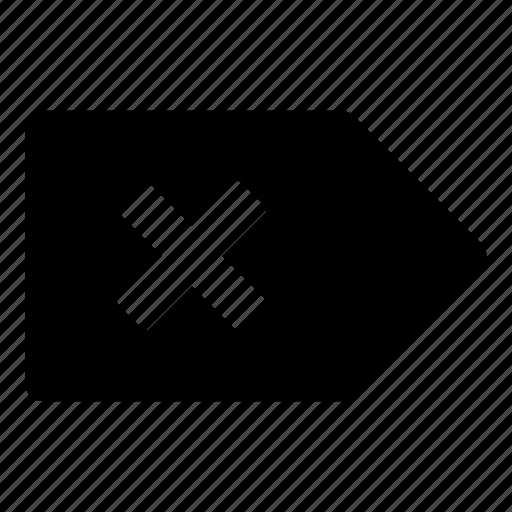 Delete, tag, close, delete tag, exit, remove, trash icon - Download on Iconfinder