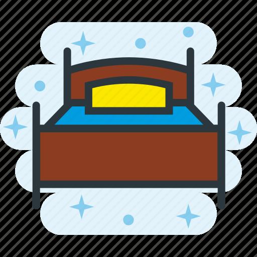 Bed, bedroom, furniture, motel, room, single icon - Download on Iconfinder