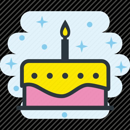 anniversary, birthday, cake, celebration, party icon