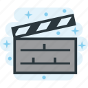 cinema, clapboard, clapper, clapperboard, film, movie