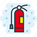 emergency, extinguisher, fire, hazard, safety icon