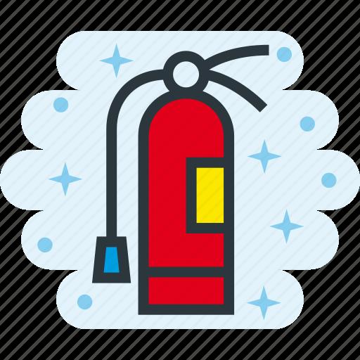 emergency, extinguisher, fire, hazard, safety icon