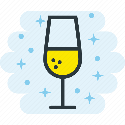 alcohol, celebration, champagne, drink, glass icon