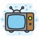 broadcast, old, television, tv