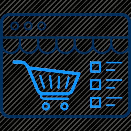 buy, cart, commerce, ecommerce, items, shop, shopping icon