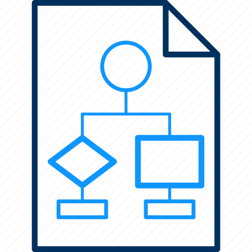 Work, flow, graph, job, office, business, chart icon
