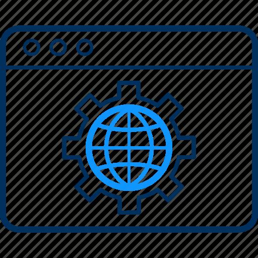browser, design, internet, network, online, web, website icon