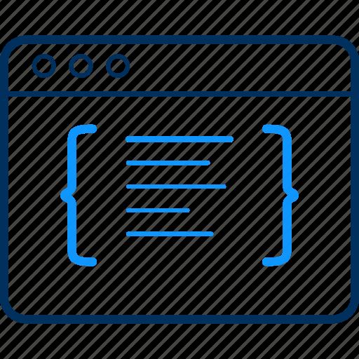 code, coding, design, development, programming, web icon