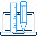 computer, creative, design, graphic, laptop, seo, tool icon