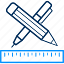 design, document, edit, pen, pencil, ruler, write icon