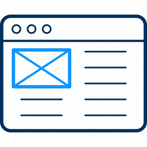 alert, email, mail, message, notification, web icon