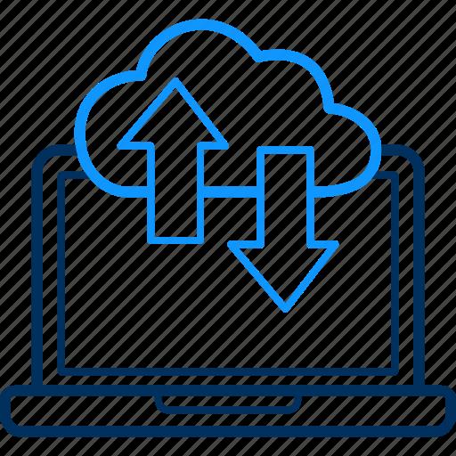 cloud, data, download, pc, server, storage, upload icon
