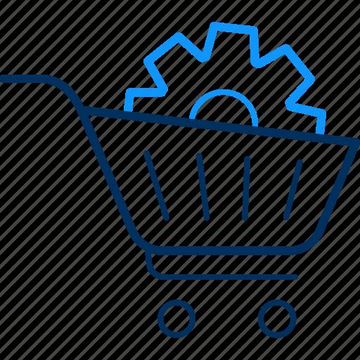 buy, cart, ecommerce, setting, settings, shipping, shopping icon