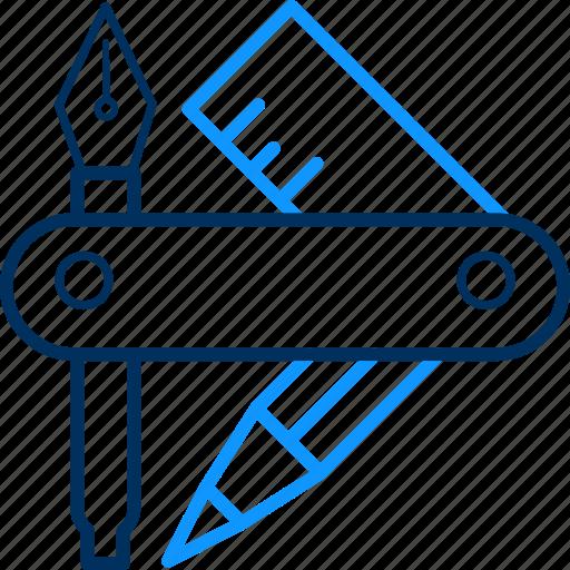 cutter, design, nail icon
