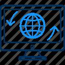 globe, laptop icon