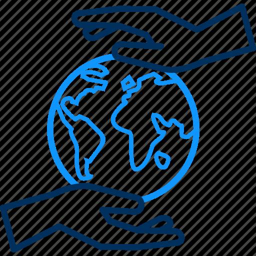 care, save, world icon