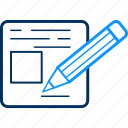 message, notepad, text icon