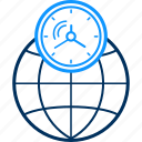 clock, global, schedule, time, timer, world icon