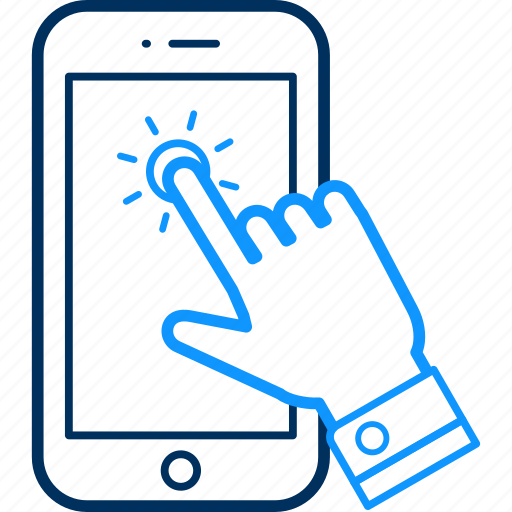 click, finger, mobile, touch icon