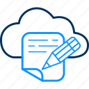 cloud, computing, database, details, network, server, storage icon