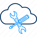 cloud, computing, network, setting, settings, storage icon