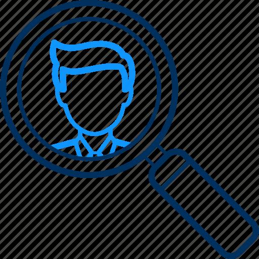 male, search icon