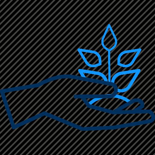 gesture, hand, plant icon