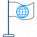 flag, world icon
