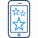 mobile, rating icon
