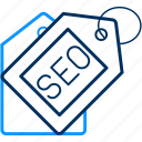 lable, marketing, optimization, seo, tag icon