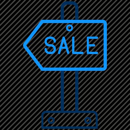 board, sale, sign icon