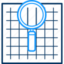 magnifier, magnifying, search, zoom icon
