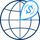 bank, location, money, currency, finance icon