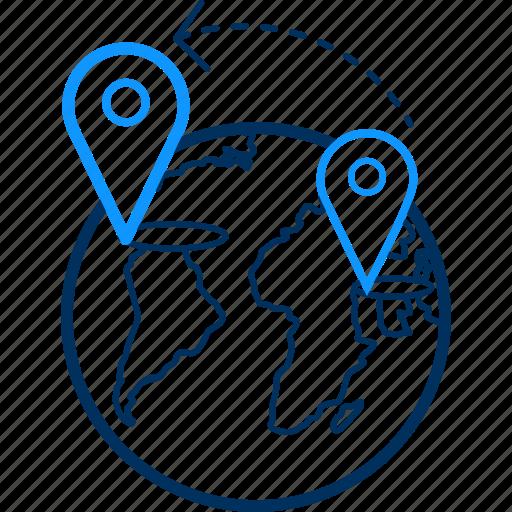 direction, gps, location, navigation, pin icon